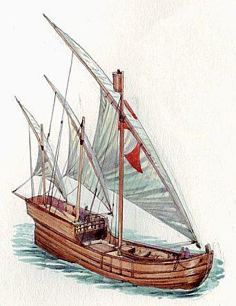 Caravela de la epoca en la que zarparia Cristobal Colón