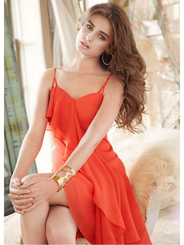 A-line Sweetheart Spaghetti Straps Short Chiffon Bridesmaid Dresses / Homecoming Dresses Under 100 2301040