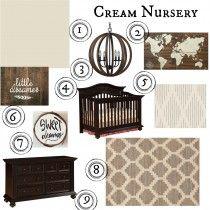 cream nursery, travel nursery, wooden world map