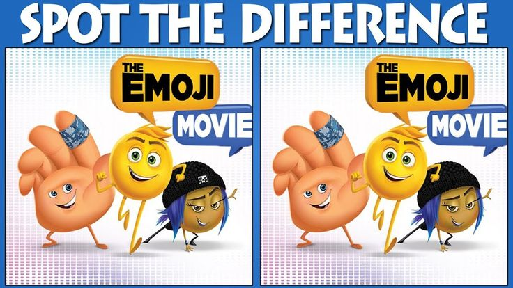 The Emoji Movie HD Puzzle | Find The Difference Emoji | Only Genius Are ...