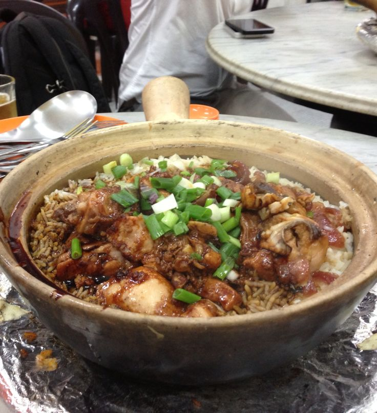 Best taste of clay pot rice is soy sauce and chicken.