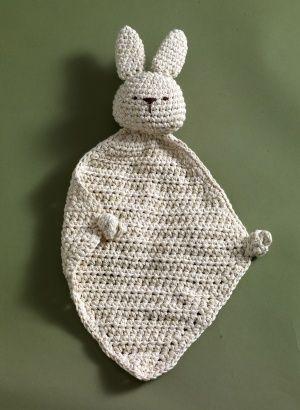 Crochet bunny blankie