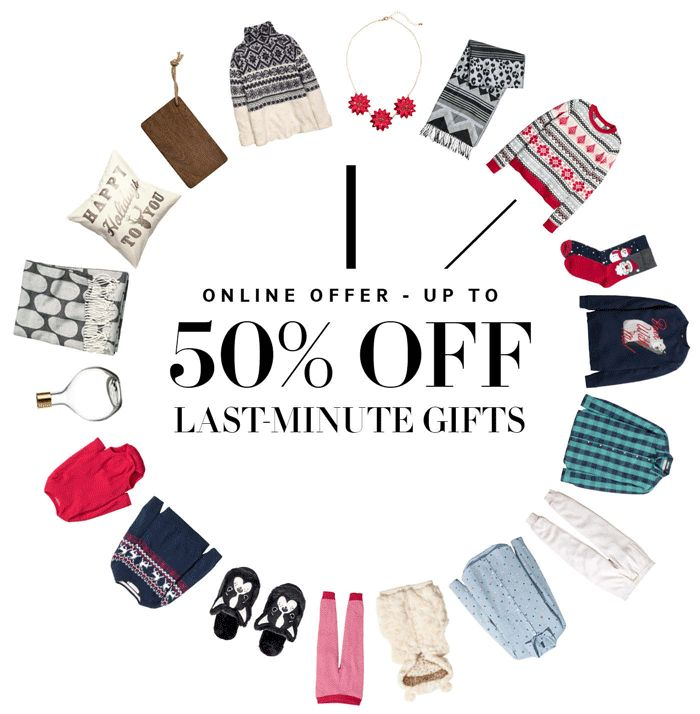Save up to 50% off last-minute gifts!