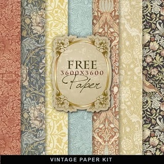 free vintage paper from Far Far Hill  (*recycled paper : )