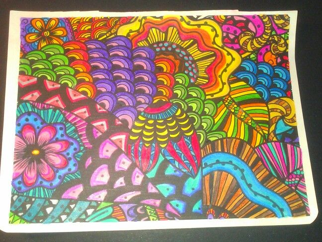 Finished Posh Coloring Book Pages Color Inspiration Love Doodles
