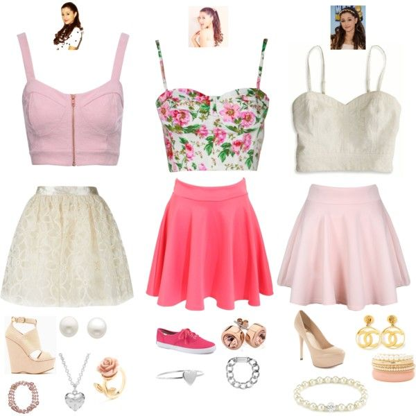 """""""Ariana Grande Inspired Outfits"""" by daniellesilverberg on Polyvore"""