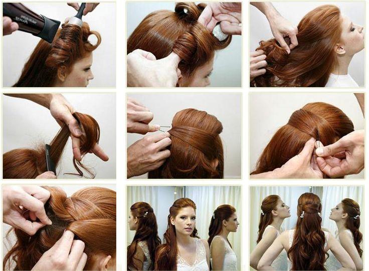 Укладка длинных волос в прическу в домашних условиях
