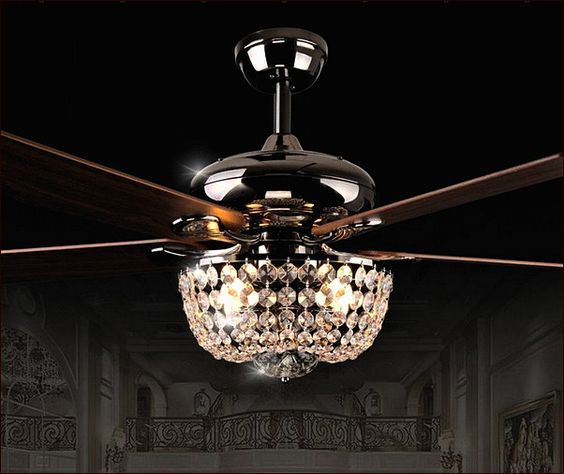 Ceiling Fan With Chandelier Light: Crystal Chandelier Ceiling Fan Combo …