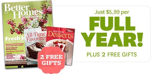Better Homes and Gardens Magazine Fans.. get a couple FREE GIFTS with a $5.99 subscription  get the details ► http://www.thecouponingcouple.com/free-gifts-with-magazine-subscription-just-5-99-for-1-yr-of-better-homes-and-gardens/