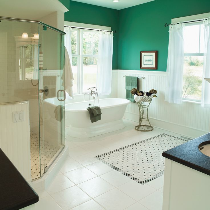 Beautiful Bathroom Color Schemes: 357 Best Homes With Beautiful Bathrooms Images On Pinterest