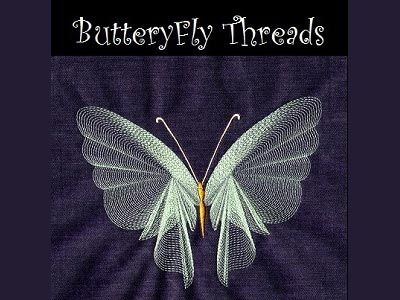 Butterfly Threads - DesignsBySiCK.com - 28 Designs<br>4 Each for the 4x4 5x7sm 5x7med and 5x7lg Hoop embroidery designs