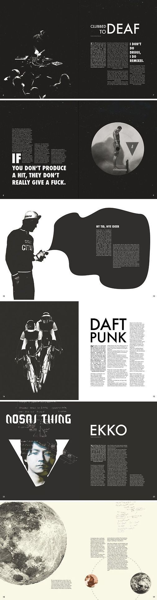 Beautiful simple black and white magazine layouts! Great use of negative space.:…