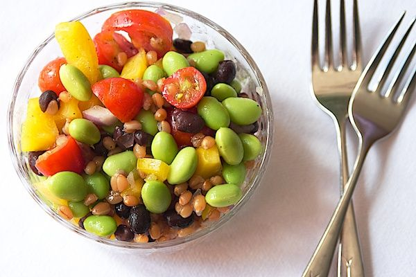Whole food recipes that are making me hungry! I need to make this wheat berry edamame salad - and more.