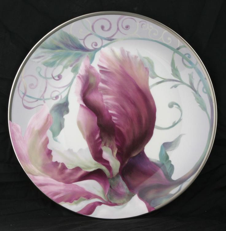 Magnolia Decorative Plate by Prouna www.prounausa.com