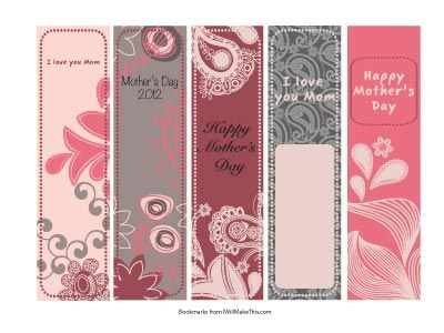 17 best images about mother 39 s day bookmarks on pinterest for Diy bookmarks for guys