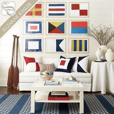Suzanne Kasler Seafarer Nautical Flags | Ballard Designs