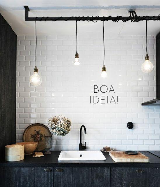 Iluminação fios pendentes enrolados em barra no teto. & 757 best Lighting images on Pinterest | Pipe lamp Wall sconces ... azcodes.com