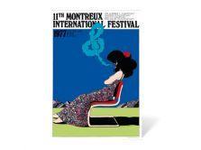 Poster Montreux Jazz Festival 1977  Artwork Milton Glaser