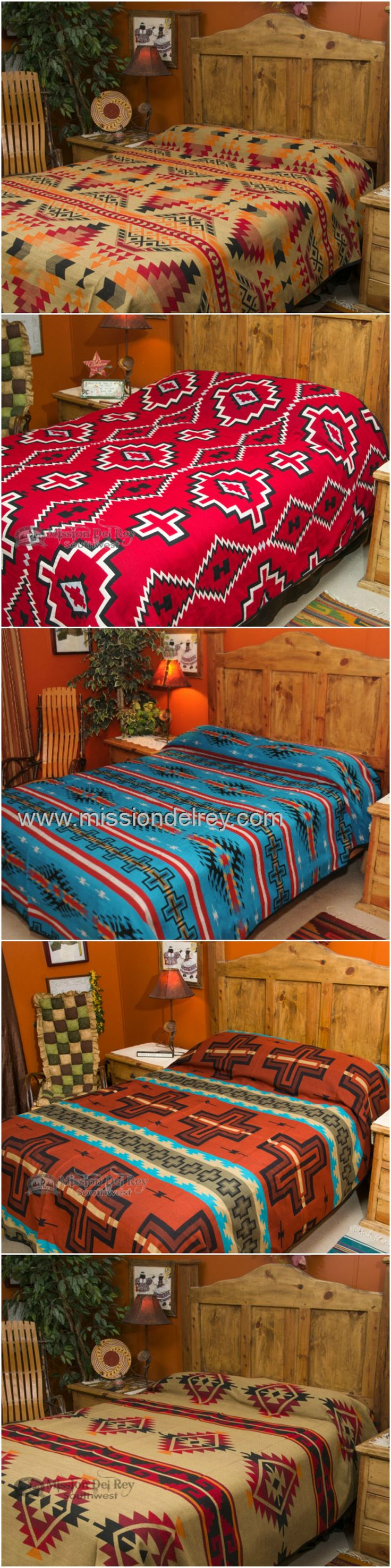 If you are looking for an easy way to incorporate southwest design into your home decor, check out our great collection of southwestern bedspreads.  Instantly change the look of any room, and give your home designer style with the beautiful colors and designs of the Southwest.  Check out our other  southwestern, rustic and western bedspreads at http://www.missiondelrey.com/southwestern-bedspreads/