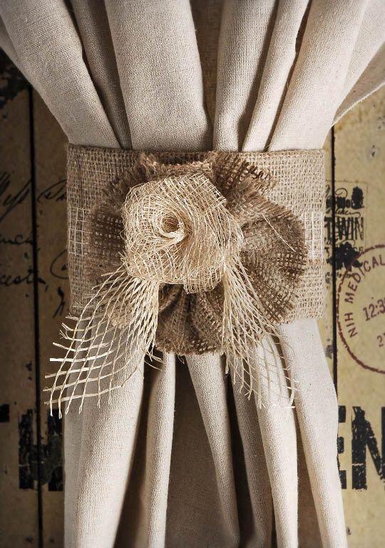 1000 Ideas About Curtain Ties On Pinterest Curtain Tie