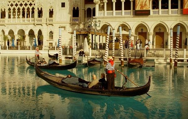 Gondola in Venetian canal