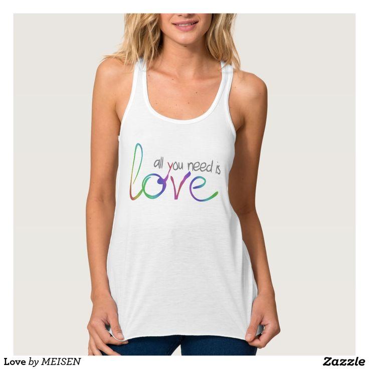 Love Flowy Racerback Tank Top