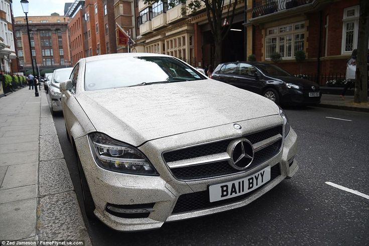 This £55,000 2014 Mercedes Benz CLS 350 covered in tiny Swarvoski crystals has been seen parked up in various places around London