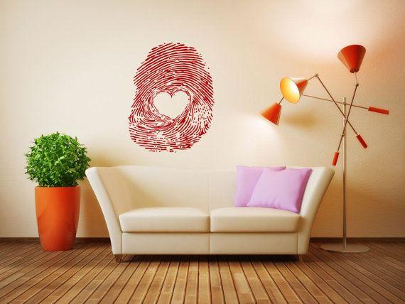 Wall Vinyl Sticker Decals Mural Room Design Heart  Love Romantic bo018