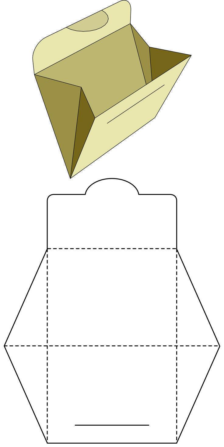 Lila Pyramide Box für XV Jahre Erinnerung – diy_crafts