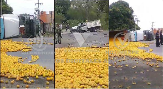 (Video) Se impactan policías Militares contra Tortón en la México Tuxpan - http://www.esnoticiaveracruz.com/video-se-impactan-policias-militares-contra-torton-en-la-mexico-tuxpan/