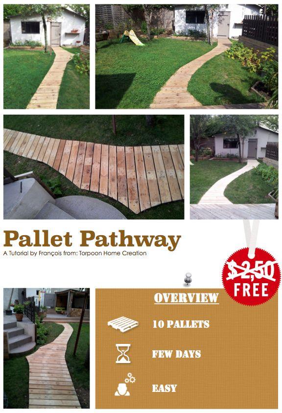 #DIY, #Pathway, #RecycledPallet, #Tutorial