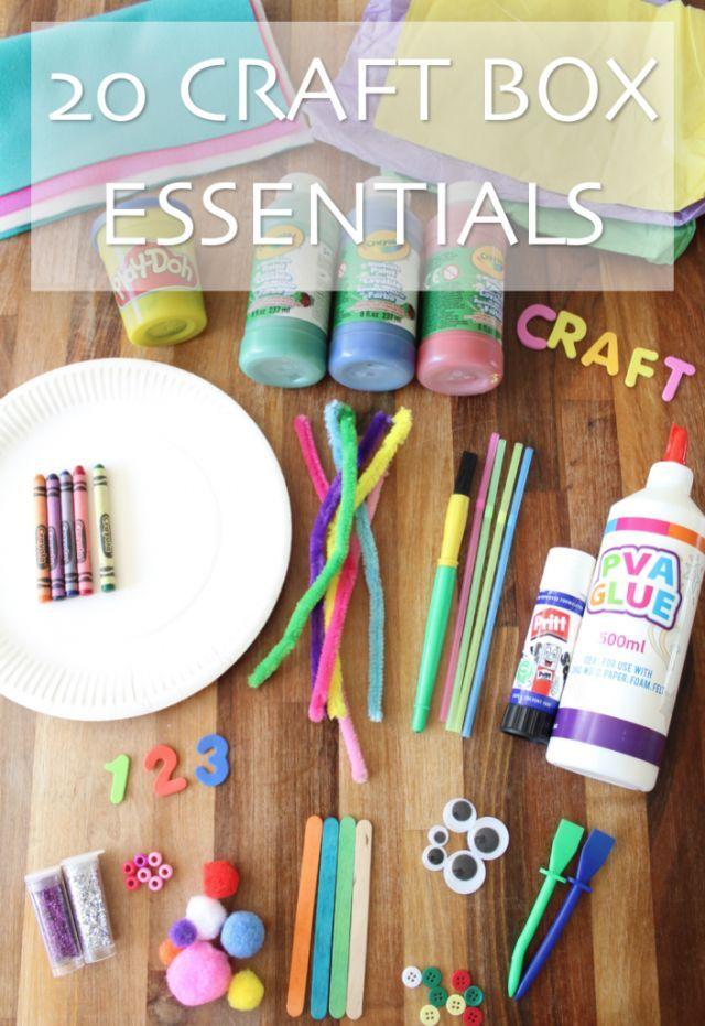 20 craft box essentials every parent needs.