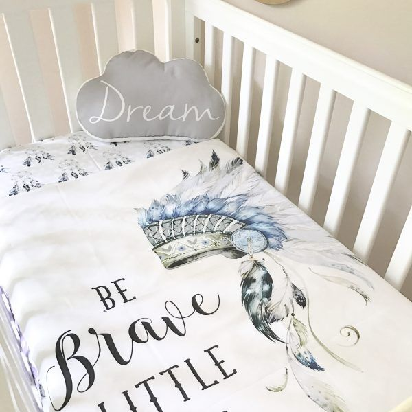 Be Brave baby bedding by Snuggly Jacks