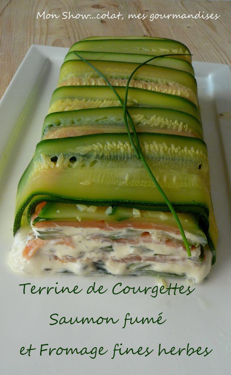 Terrine de Courgettes au Saumon fumé et Fromage fines herbes