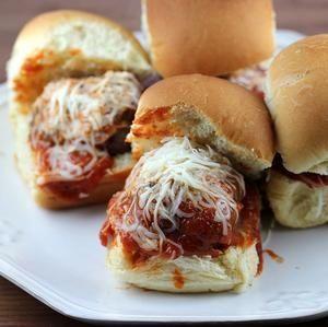 Italian Meatball Sliders Recipe.