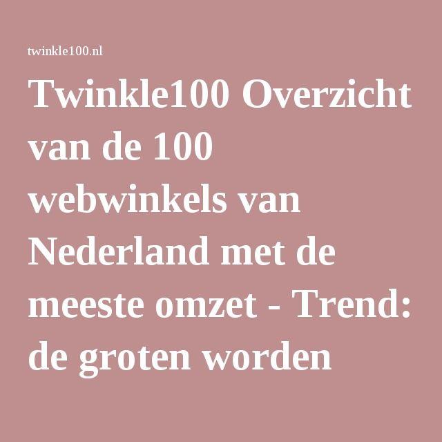 Twinkle100 Overzicht van de 100 webwinkels van Nederland met de meeste omzet - Trend: de groten worden groter