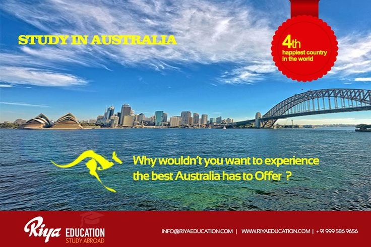 Why wouldn't you want to experience the best Australia has to offer??? Study in Australia. Visit our website http://riyaeducation.com/contact/