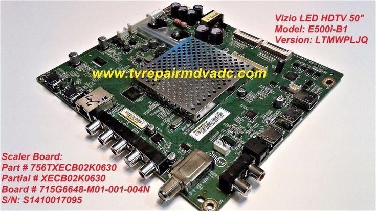 VIZIO E500i-B1 SCALER BOARD: 756TXECB02K0630. IMPORTANT NEWS. SYSTEM RESET TIP #VIZIO