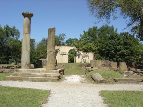 Alabama State Capital ruins in Tuscaloosa Alabama