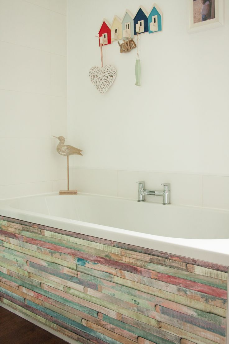 d-c-fix® Rio design shown on bath panel. Simply peel and stick for an instant transformation!