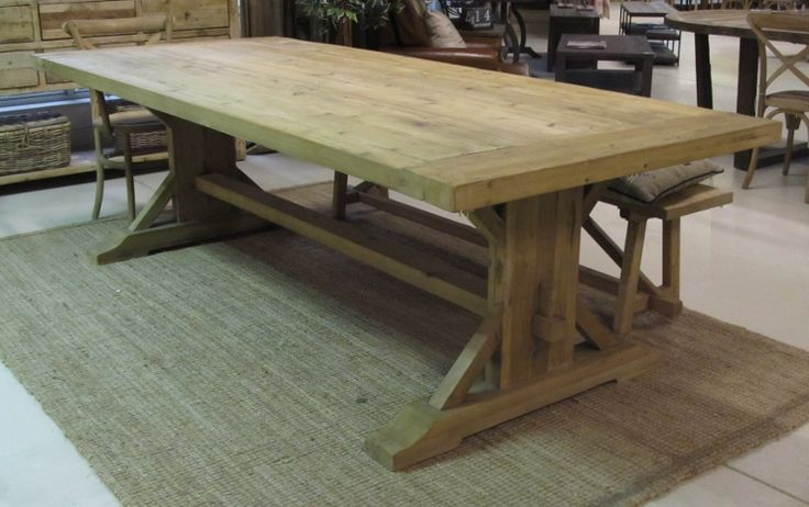 Verona Dining Table Reclaimed Fir 260x110x78 (2)