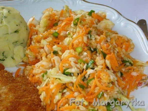 Surówka obiadowa z marchewką