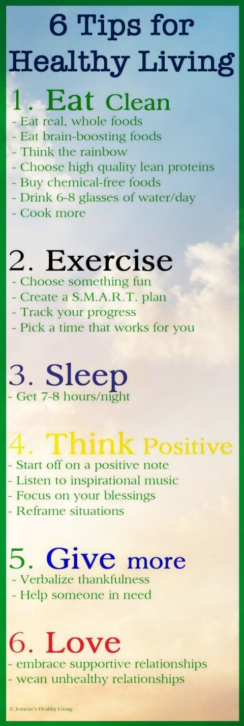 6 Healthy Living Tips