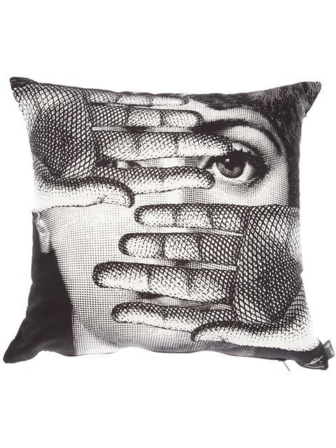 Shop Fornasetti 'Abbaglio' cushion in L'Eclaireur from the world's best independent boutiques at farfetch.com. Over 1000 designers from 300 boutiques in one website.
