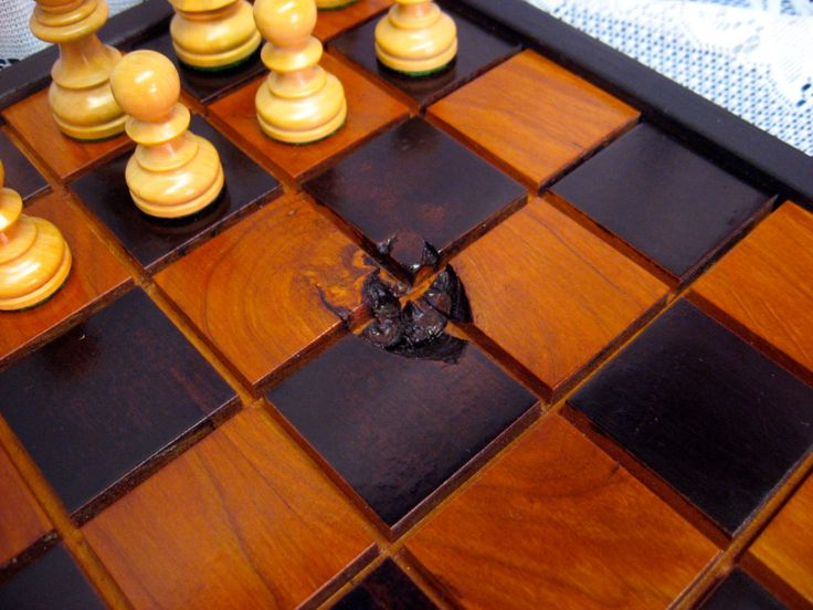 Black Cherry Chess Set From Reclaimed 1800's Barn Beams by heirloomwoodworks on Etsy