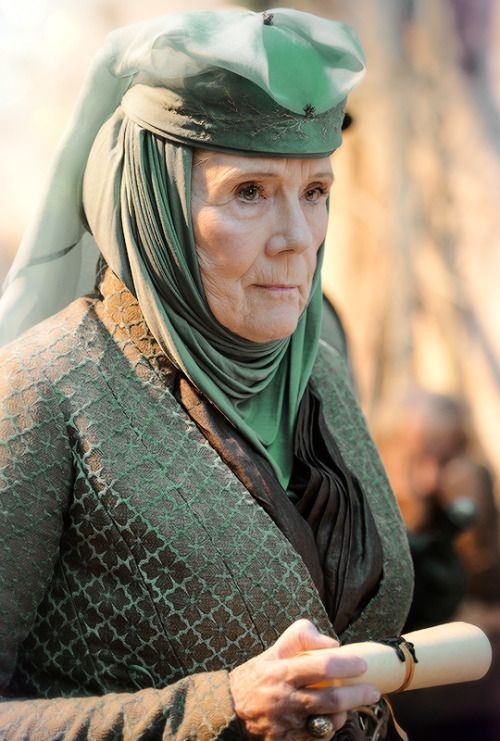 "stormbornvalkyrie:  ♕ Olenna Tyrell | Game of Thrones 5.07  ""The Gift"" .......the fabulous Diana Rigg"