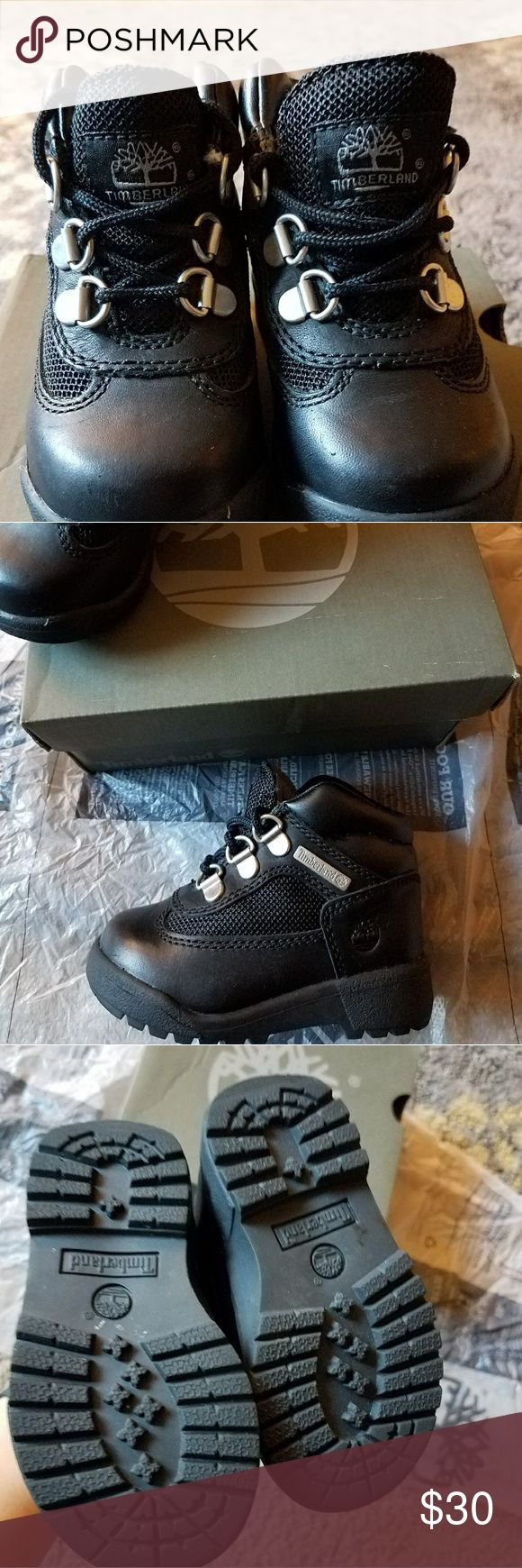 Toddler Timberland's boots Black toddler boots size 6 Like new Timberland Shoes Boots
