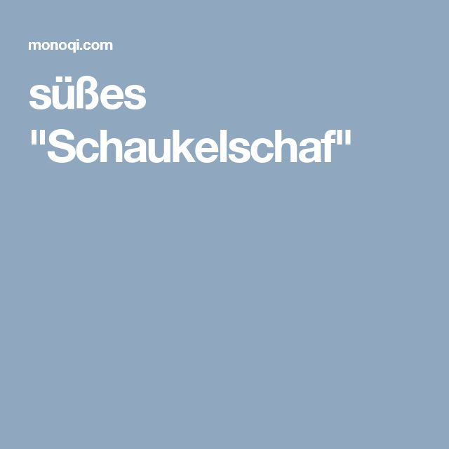 New s es Schaukelschaf