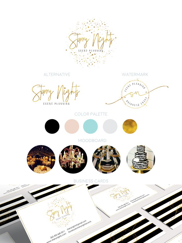 Glam Starry Branding and Logo design Kit on my Etsy shop
