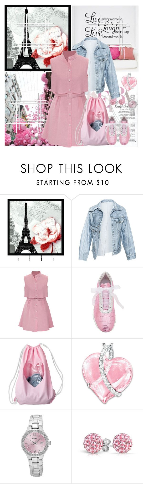 """Shirtdress - teen ager mode"" by kmaryk ❤ liked on Polyvore featuring Universal Lighting and Decor, WALL, Faustine Steinmetz, Joshua's, The Bradford Exchange, Seiko and Bling Jewelry"